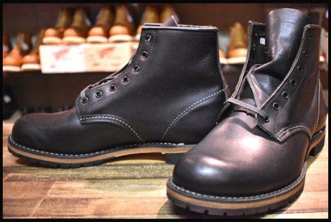 【9D 未使用 14年】レッドウィング 9014 ベックマン ブーツ 黒 ブラック フェザーストーン プレーントゥ redwing HOPESMORE