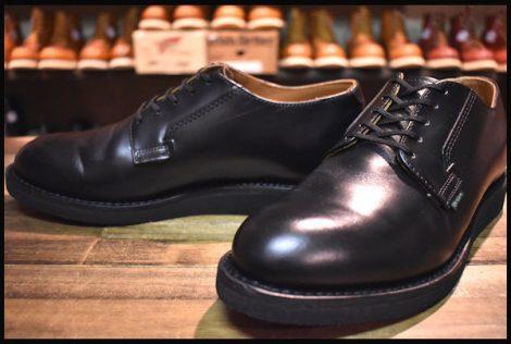 【8D 美品 19年】レッドウィング 101 ポストマン シューズ ブーツ 黒 ブラック シャパラル 短靴 redwing HOPESMORE