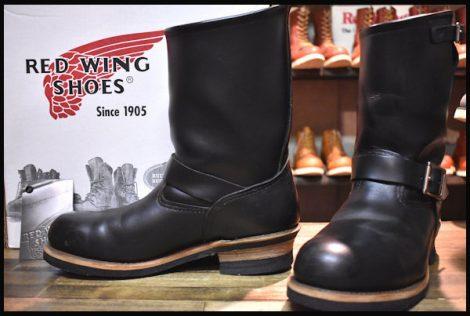 【9D 箱付 良品 08年】レッドウィング 2268 エンジニア ブーツ 黒 ブラック クローム スチールトゥ redwing HOPESMORE