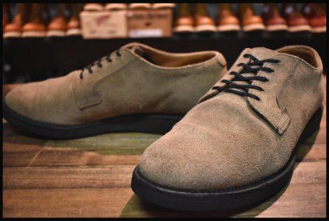 【9.5D 良品 10年】レッドウィング 9104 スエード ポストマン ブーツ セージモハヴェ オックスフォード 短靴 redwing HOPESMORE