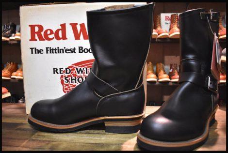 【9D DEAD PT91刺繍 98年】レッドウィング 2268 エンジニア ブーツ 黒 ブラック クローム スチールトゥ redwing HOPESMORE
