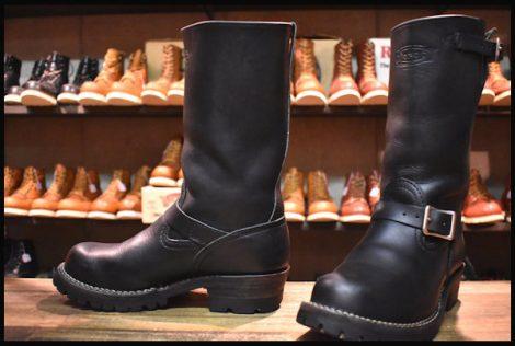 【7.5E 良品 12年】WESCO ウエスコ ボス ブーツ 11インチハイト黒 ブラック ビブラム100シングル HOPESMORE