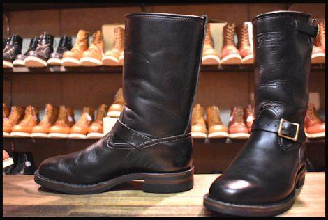 【9.5D 美品 07年】WESCO ウエスコ サイクルボス エンジニア ブーツ 黒 ブラック 限定 ホースハイド BOSS HOPESMORE