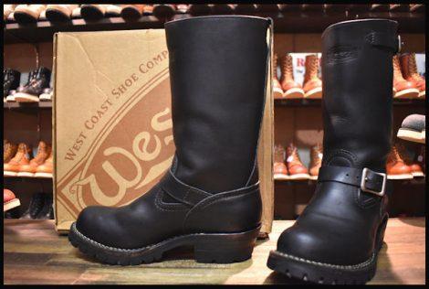 【7.5D 箱付 良品 12年】WESCO ウエスコ ボス エンジニア ブーツ 黒 ブラック 11インチハイト ビブラム100シングル BOSS HOPESMORE