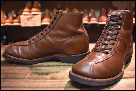 【7D 良品 18年】レッドウィング 8826 アウティング ブーツ ティークレザー ブラウン プレーリー 先芯なし redwing HOPESMORE