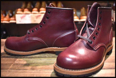 【6D 未使用 15年】レッドウィング 9011 ベックマン ブーツ ブラックチェリー フェザーストーン プレーントゥ redwing HOPESMORE