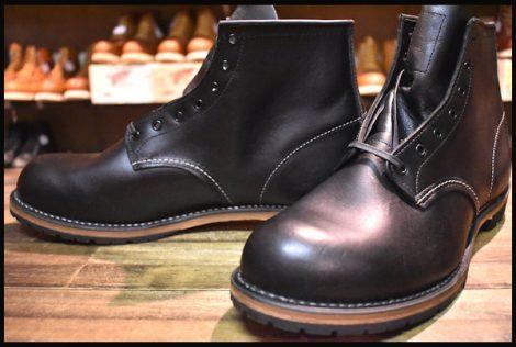 【12D 未使用 12年】レッドウィング 9014 ベックマン ブーツ 黒 ブラック フェザーストーン プレーントゥ redwing HOPESMORE