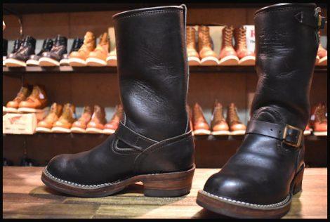【7.5E 良品 ウエスタンリバー別注 04年】WESCO ウエスコ カスタムボス エンジニア ブーツ 11インチハイト ブラック HOPESMORE