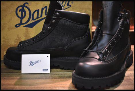 【7.5EE 箱付 DEAD 白タグ】Danner ダナーライト ブラック ブーツ 黒 31400X ゴアテックス GORE-TEX HOPESMORE